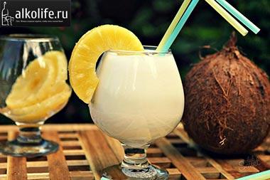 коктейль пина колада кокос фото