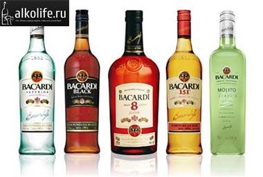 ром бакарди в разных бутылках фото