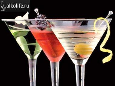 мартини в бокалах фото