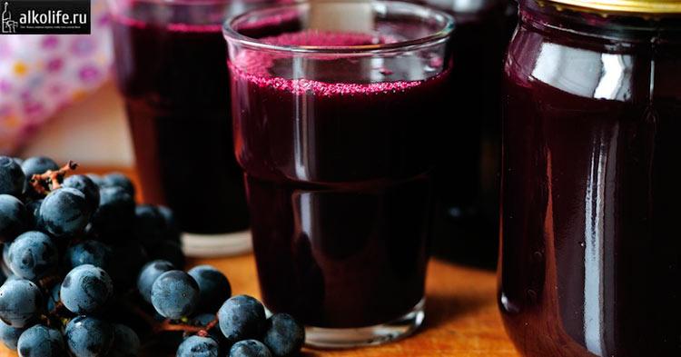 Сок винограда для приготовления ликера