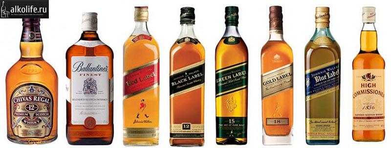 Виды купажированного шотландского виски
