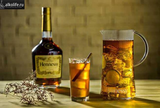 Коньяк и чай со льдом