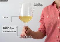 Как держать бокал?