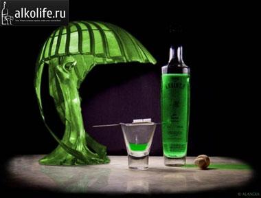 абсент, бутылка