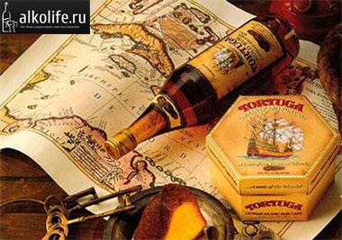 бутылка рома на карте