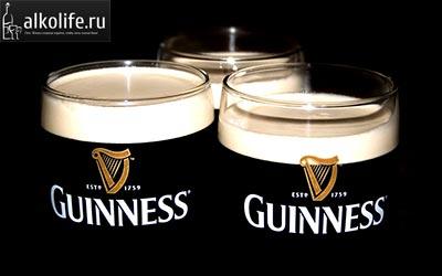 три бокала пива guinness фото