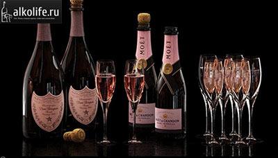 Розовое шампанское Moet
