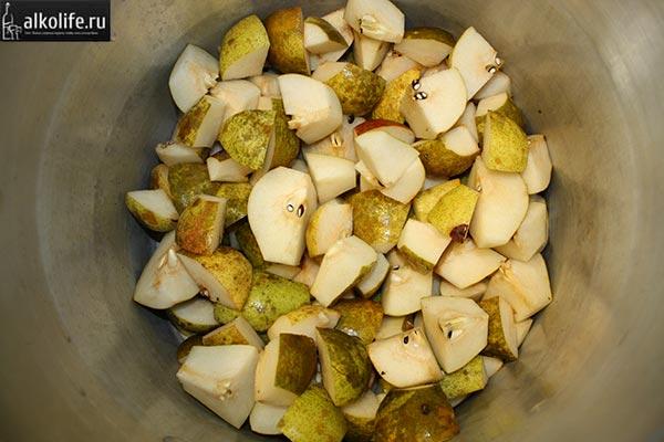 Подготовка груш для браги