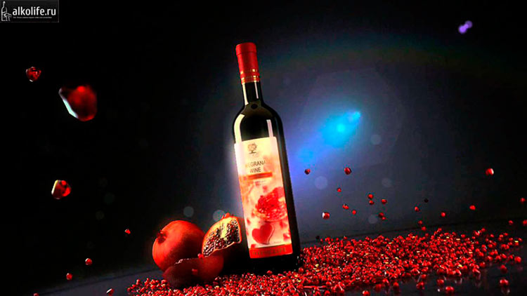 Американское гранатовое вино