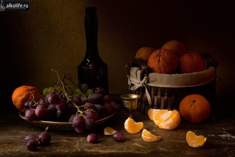 Чача из мандаринов с виноградом