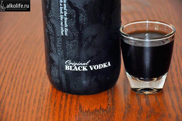 Правила употребления черной водки