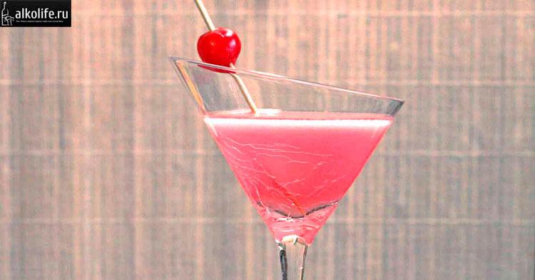 Коктейль розовая леди
