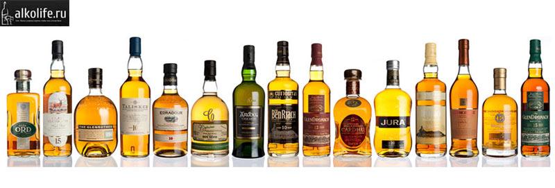 Виды односолодового шотландского виски