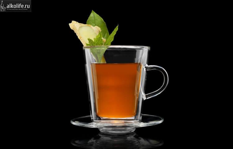 Янтарный чай с коньяком