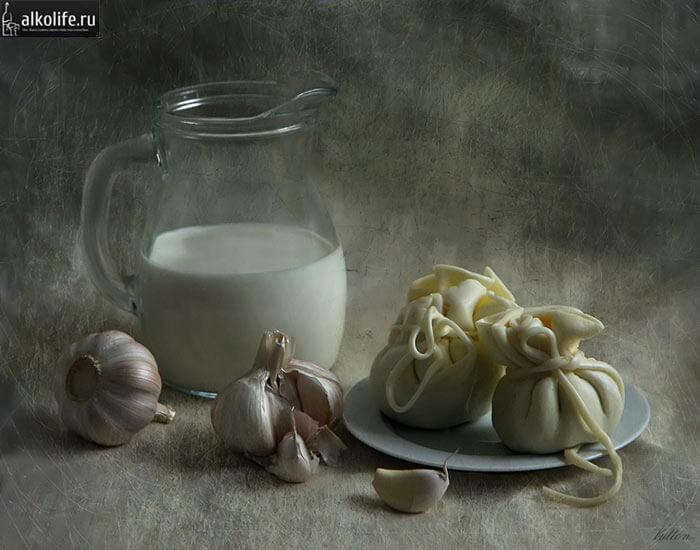 Чеснок с молоком