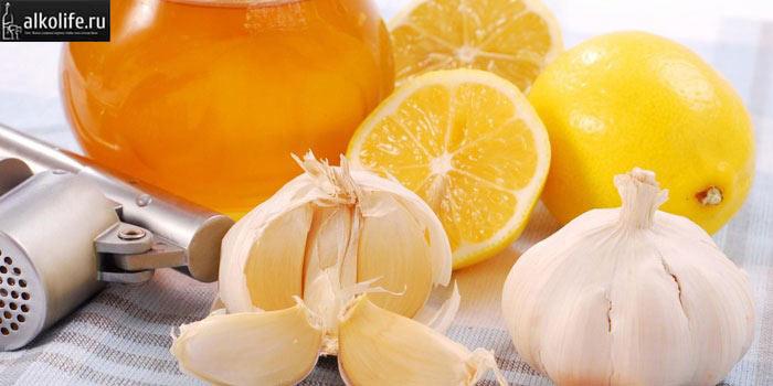 Лимон и чеснок для настойки