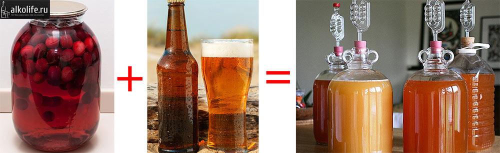 Брага из компота и пива