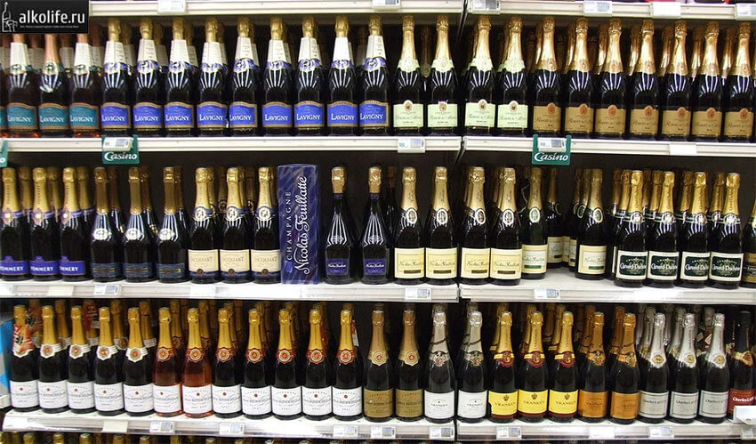 Шампанское на прилавках
