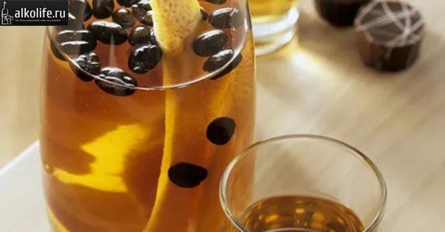 Кофейная настойка на апельсиновой цедре