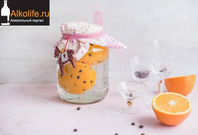 Кофейная настойка на водке с апельсином