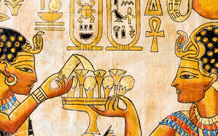 Древние египтяне пьют пиво - рисунок