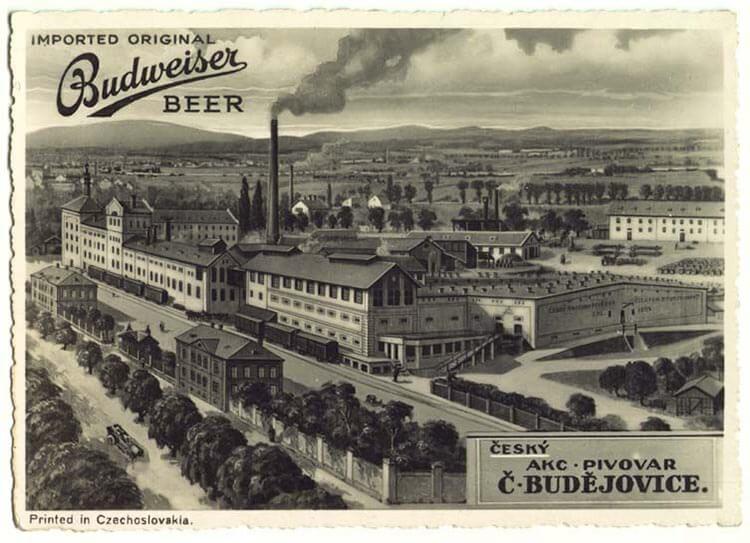 Пивоваренный завод Будвайзер 19 век