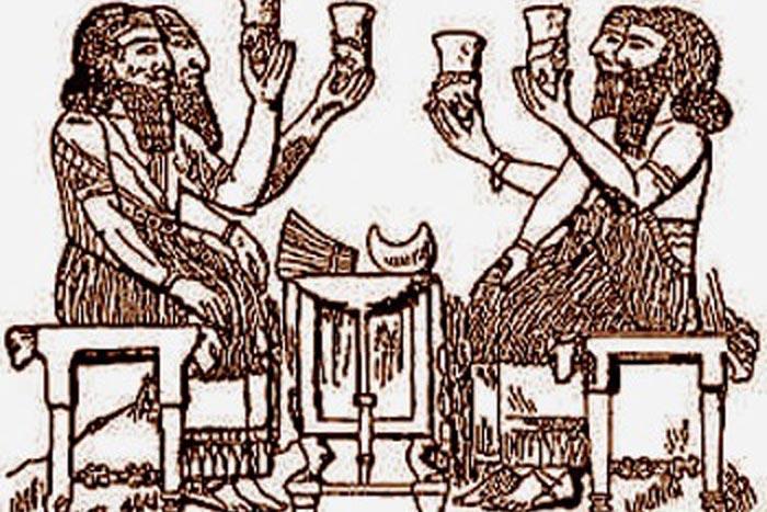 Вавилоняне пьют пиво