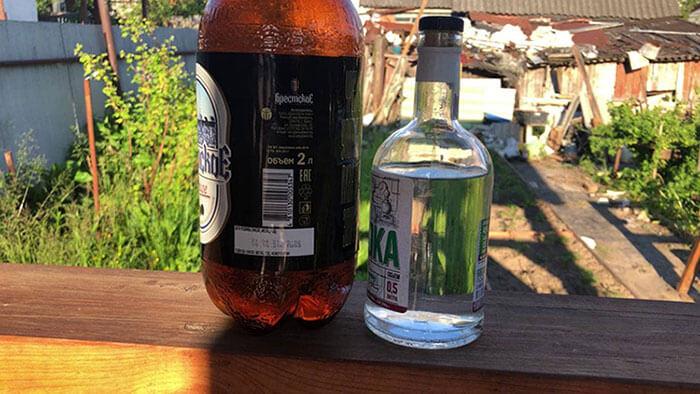 Пиво и водка для Ерша